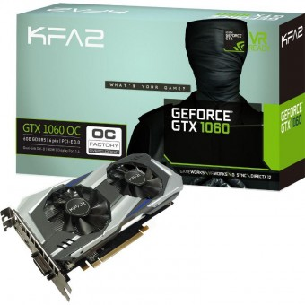 PLACA VIDEO GALAXY KFA2 GeForce GTX 1060 OC 6GB DDR5X 192-bit