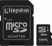 KINGSTON MICRO SDHC CLASS 4 16GB + ADAPTOR