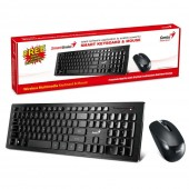 KIT GENIUS MOUSE & TASTATURA WIRELESS SlimStar 8006 BLACK