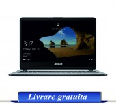 Laptop ASUS 15.6'' X507UA-EJ315, FHD, i3-7020U, 4GB DDR4, 1TB, Endless OS, Grey