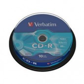 VERBATIM CD-R 52X 700 MB Spindle 10/pack