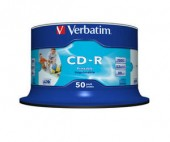 VERBATIM CD-R 52X 700 MB Spindle 50/pack PRINTABLE