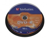 VERBATIM DVD-R 16X 4,7GB SP10/Pack