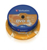 VERBATIM DVD-R 16X 4,7GB SP25/Pack