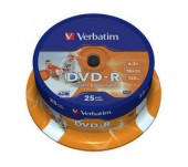 VERBATIM DVD-R 16X 4,7GB SP25/Pack Printable