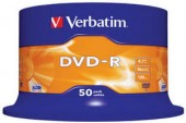 VERBATIM DVD-R 16X 4,7GB SP50/Pack