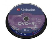 VERBATIM DVD+R 16X 4,7GB SP10/Pack