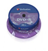 VERBATIM DVD+R 16X 4,7GB SP25/Pack