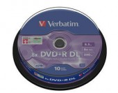 VERBATIM DVD+R DL 8X 8.5GB SP10/Pack